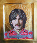 George Harrison Paintings - All Things Must Pass small version by Rocco Pazzo