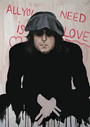John Lennon Art Posters - All You Need Is Love Poster by Anthony Falbo