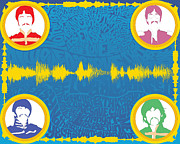 Sgt Pepper Prints - All you need is love inspired digital soundform Print by Dak Mannella