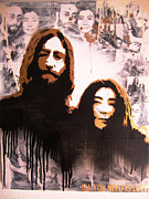 John Lennon Mixed Media Originals - All You Need Is Love by John Little