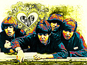 Beatles Digital Art - All you need is Love by Rebelwolf