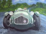 Headlight Mixed Media - Allard J2X by Anna Ruzsan