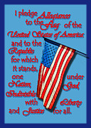 Pledge Of Allegiance Posters - Allegiance Poster by Larry Bishop