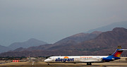 Palm Springs Airport Prints - Allegiant at Palm Springs Airport Print by John Daly