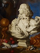 Bust Painting Posters - Allegorical Still Life Poster by Francesco Stringa