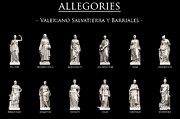 Allegories Metal Prints - Allegories Metal Print by Fabrizio Troiani