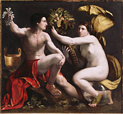 Allegories Metal Prints - Allegory of Fortune Metal Print by Dosso Dossi