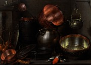 Interior Still Life Painting Metal Prints - Allegory of the Four Elements Metal Print by Cornelis Jacobsz Delff