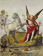 Guardian Angels Posters - Allegory Poster by Piero di Cosimo