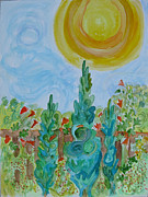 Cedars Paintings - Allegro Garden by Lori Neville