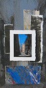 Buildings Mixed Media Originals - Alley 3rd Ward and Abstract by Anita Burgermeister