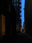 3rd Prints - Alley at Night Print by Anita Burgermeister