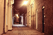 Alley At Night Print by Tom Gowanlock