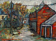 Kingston Prints - Alley Behind Sydenham Street Print by David Dossett