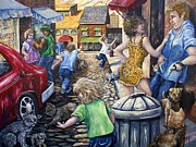 Gail Butler Art - Alley Catz by Gail Butler