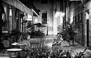 Alley Dining Print by John Rizzuto