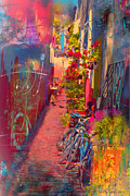 Alley In Poulsbo Print by Kari Nanstad