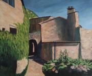 Realistic Mixed Media Originals - Alley In The Provence by Christiane Schulze