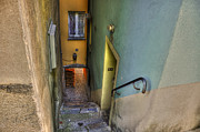 Old Door Prints - Alley with stairs Print by Mats Silvan