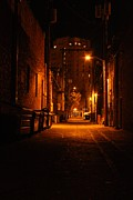 City Streets Photo Originals - Alleys Glow by Michael Lee