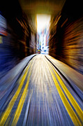 Double Yellow Lines Posters - Alleyway with Motion Poster by Craig Brown
