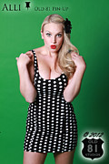 Dots Art - Alli in Polka Dots Old 81 Pinup 2012 by JC Kirk