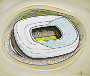 Soccer Framed Prints - Allianz Arena - Bayern Munich Framed Print by D J Rogers