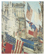 American City Scene Paintings - Allies Day May  by Childe Hassam
