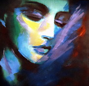Faces Paintings - Allness of the Universe by Helena Wierzbicki