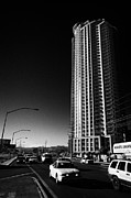 Allure Prints - allure luxury condominium tower on west sahara avenue Las Vegas Nevada USA Print by Joe Fox