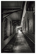 Alley To The Trains Print by Marvin Spates