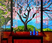 Spring Time Paintings - Almond with a View by Jayne Kerr Proano