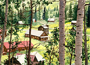 Western Usa Painting Posters - Almost Heaven Poster by Barbara Jewell