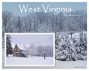 Snow-covered Landscape Posters - Almost Heaven West Virginia Poster by Benanne Stiens