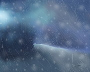 Snowstorm Paintings - Almost Home 2 by Kume Bryant