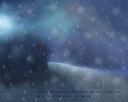 Snowstorm Paintings - Almost Home by Kume Bryant