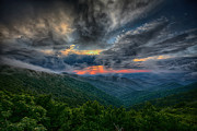 Asheville Photos - Almost Sunset by John Haldane