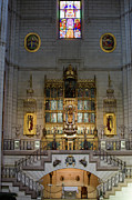 European Artwork Prints - Almudena Cathedral Altar Print by Artur Bogacki