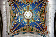Religious Structure Framed Prints - Almudena Cathedral Dome Ceiling Framed Print by Artur Bogacki