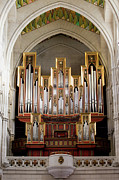 Religious Structure Framed Prints - Almudena Cathedral Organ Framed Print by Artur Bogacki