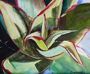 Suzanne Willis Metal Prints - Aloe Plant Metal Print by Suzanne Willis