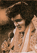 Elvis Presley Drawings - Aloha from Elvis by Rob De Vries