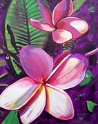 Plumeria Paintings - Aloha by Marionette Taboniar