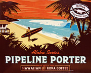 Pipeline Framed Prints - Aloha Series 1 Framed Print by Cheryl Young