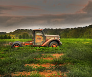 Old Chevy Truck Prints - Alone Again Naturally Print by Thomas Young