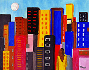 Mirko Gallery Framed Prints - Alone Among All - City 05 Framed Print by Mirko Gallery