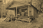 Log Cabins Prints - Alone Print by Armand  Roux - Northern Point Photography