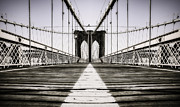 Brooklyn Bridge Park Digital Art - Alone in New York City Brooklyn Bridge by Marshall Bishop