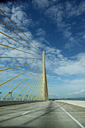 Christiane Schulze Posters - Alone On The Skyway Bridge - Florida Poster by Christiane Schulze