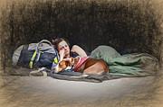 John Haldane - Alone with Her Dog